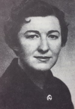 One of the earliest female Faculty Adivsors, Cecilia Tierney, Xi Chapter 1950